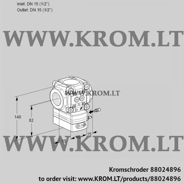 Kromschroder Flow rate regulator VRH115R05BE/PP/PP, 88024896