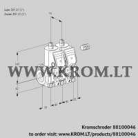 Double solenoid valve VCS1E25R/25R05NNWR/PPPP/PPPP (88100046)