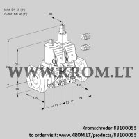 Double solenoid valve VCS3E50F/50F05NLWGR3/PPPP/PPPP (88100055)