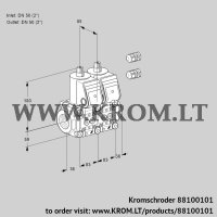 Double solenoid valve VCS3E50R/50R05NNWR3/PPPP/PPPP (88100101)