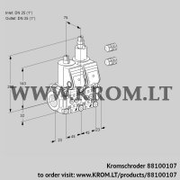 Double solenoid valve VCS1E25R/25R05NLWR3/PPPP/PPPP (88100107)