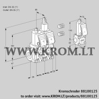 Double solenoid valve VCS2E25R/25R05NLWGR3/PPPP/PPZS (88100125)