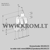 Double solenoid valve VCS3E50R/50R05NLQR3/PPPP/PPPP (88100133)
