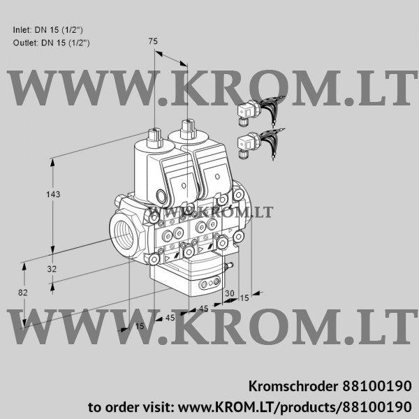 Kromschroder Flow rate regulator VCH1E15R/15R05NHEVWR6/PPPP/PPPP, 88100190