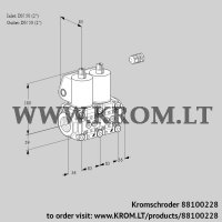 Double solenoid valve VCS3E50R/50R05NNWL/PPPP/PPPP (88100228)