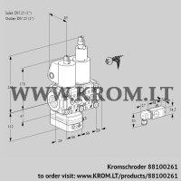 Air/gas ratio control VCV2E25R/25R05VKLWL/PPPP/2-PP (88100261)