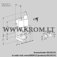 Air/gas ratio control VCV1E25R/25R05VKLWL/PPPP/2-PP (88100291)