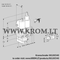 Air/gas ratio control VCV3E50R/50R05VKLWL/PPPP/2-PP (88100340)