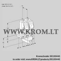 Pressure regulator VCD1T15N/15N05ND-100QR/PPPP/PPPP (88100440)