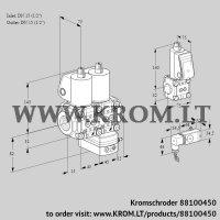 Air/gas ratio control VCG1T15N/15N05NGAQL/PPBS/2-PP (88100450)
