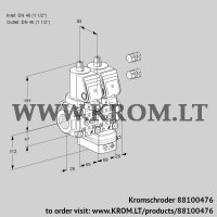 Air/gas ratio control VCV2E40R/40R05NVKQSR3/PPPP/PPPP (88100476)