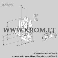 Air/gas ratio control VCG2E40R/40R05NGNWR3/2-PP/PPPP (88100612)