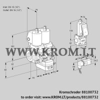 Air/gas ratio control VCG1T15N/15N05NGAQGL/PPBS/2-PP (88100732)