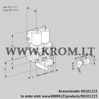 Air/gas ratio control VCG1T25N/25N05NGKQSL/MMPP/2--2 (88101215)