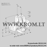 Air/gas ratio control VCG2E40F/40F05NGEWR3/PPPP/PPPP (88101244)