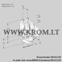 Air/gas ratio control VCG2E40F/40F05FNGEWR3/PPPP/PPPP (88101250)