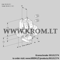Air/gas ratio control VCG2E50R/40F05NGEWR3/PPPP/PPPP (88101574)