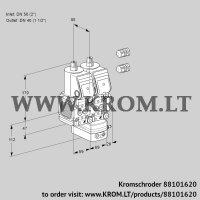 Air/gas ratio control VCG2E50R/40R05FNGEWR3/PPPP/PPPP (88101620)