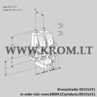 Air/gas ratio control VCG2E50R/40R05FNGEVWR3/PPPP/PPPP (88101651)