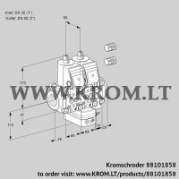 Air/gas ratio control VCG2E25R/50R05NGEVWR3/PPPP/PPPP (88101858)