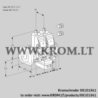 Air/gas ratio control VCG2E40F/50R05NGEVWR3/PPPP/PPPP (88101861)