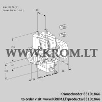 Air/gas ratio control VCG2E50R/40F05NGEVWR3/PPPP/PPPP (88101866)