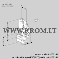Air/gas ratio control VAG1E15R/15R05FGEVWR/PP/PP (88102246)