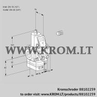 Air/gas ratio control VAG1E15R/20R05GEVWR/PP/PP (88102259)