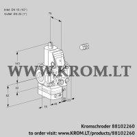 Air/gas ratio control VAG1E15R/25R05GEVWR/PP/PP (88102260)