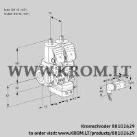 Air/gas ratio control VCG1T15N/15N05NGAQSR/-3PP/PPPP (88102629)