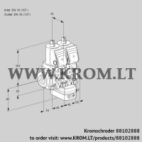 Air/gas ratio control VCG1T15N/15N05NGAQGR/PPPP/PPPP (88102888)