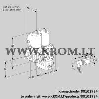 Air/gas ratio control VCG1T15N/15N05NGKQL/MMPP/2--2 (88102984)
