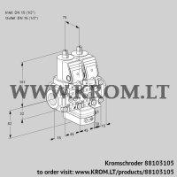 Air/gas ratio control VCG1T15N/15N05NGAVQGR/PPPP/PPPP (88103105)