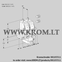 Air/gas ratio control VCG2E32R/32R05NGEVWR3/PPPP/PPPP (88103511)
