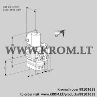 Air/gas ratio control VAG1E15R/15R05GEVWL/PP/PP (88103628)