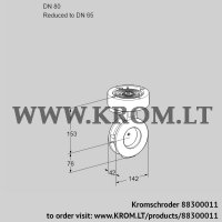 Butterfly valve BVGF80/65Z05 (88300011)
