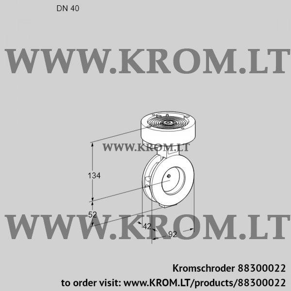 Kromschroder Butterfly valve BVAF40Z05, 88300022