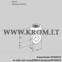 Butterfly valve BVAF80/50Z05 (88300039)