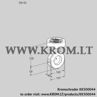 Butterfly valve BVGF50W05 (88300044)