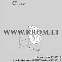 Butterfly valve BVA80/50Z05 (88300116)