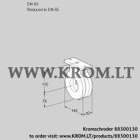 Butterfly valve BVG80/65Z05 (88300130)