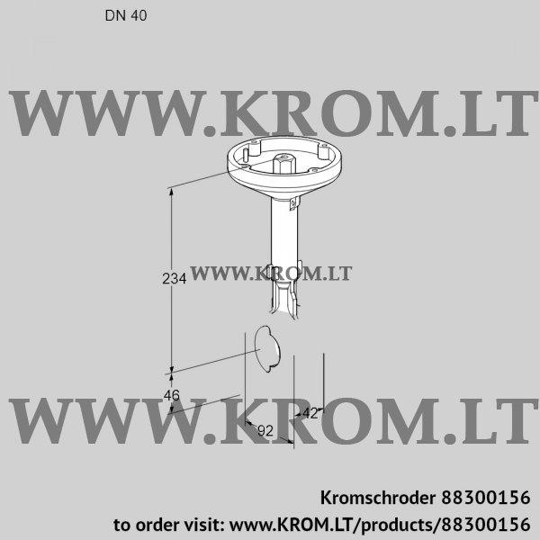 Kromschroder Butterfly valve BVH40Z01A, 88300156