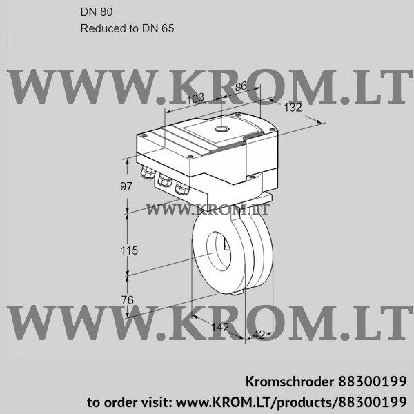 Kromschroder Butterfly valve IBG80/65Z05/20-07W2E, 88300199