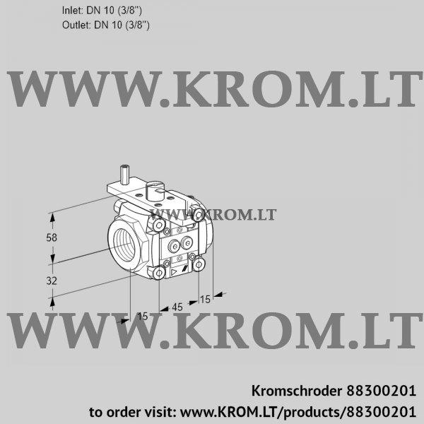 Kromschroder Linear flow control VFC110/10R05-08PPPP, 88300201