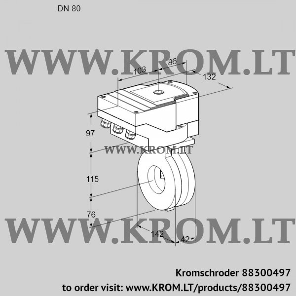 Kromschroder Butterfly valve IBA80Z05/20-30W3T, 88300497