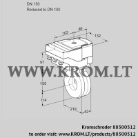 Butterfly valve IBG150/100Z05/20-60W3E (88300512)