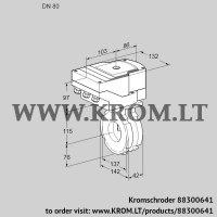 Butterfly valve IBG80W05/40A2A (88300641)