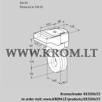 Butterfly valve IBA80/65Z05/20-60W3E (88300655)