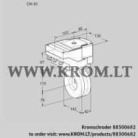 Butterfly valve IBA80Z05/20-60W3T (88300682)