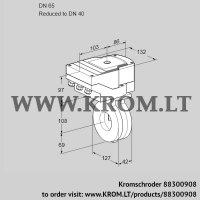 Butterfly valve IBG65/40Z05/20-30W3E (88300908)